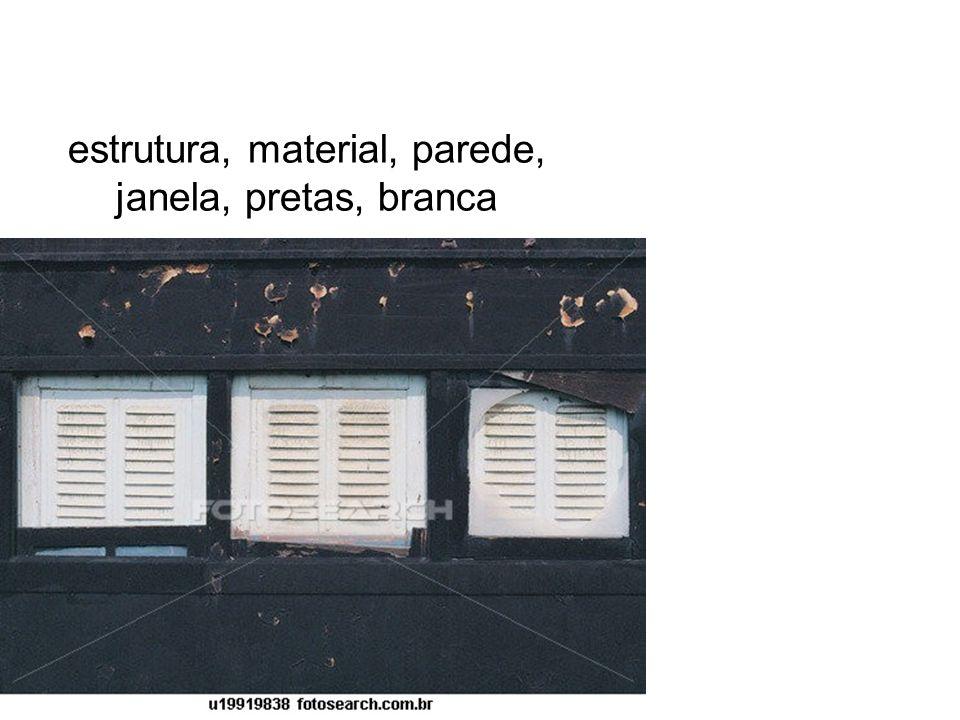 estrutura, material, parede, janela, pretas, branca