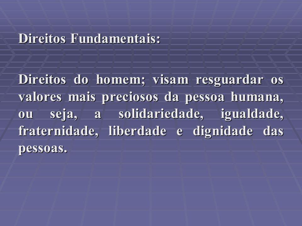 Direitos Fundamentais: