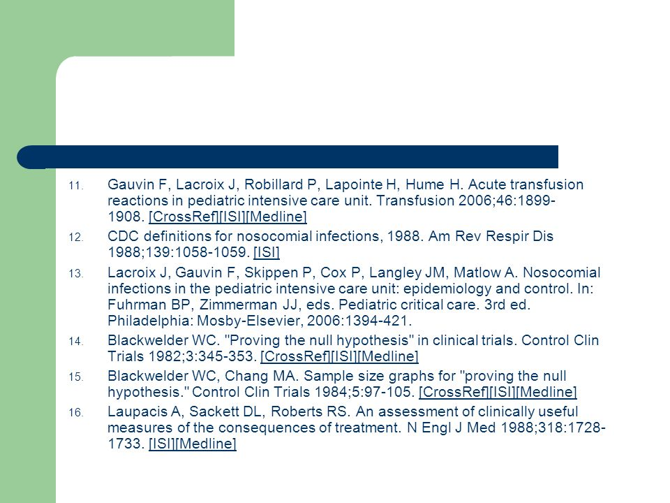 Gauvin F, Lacroix J, Robillard P, Lapointe H, Hume H