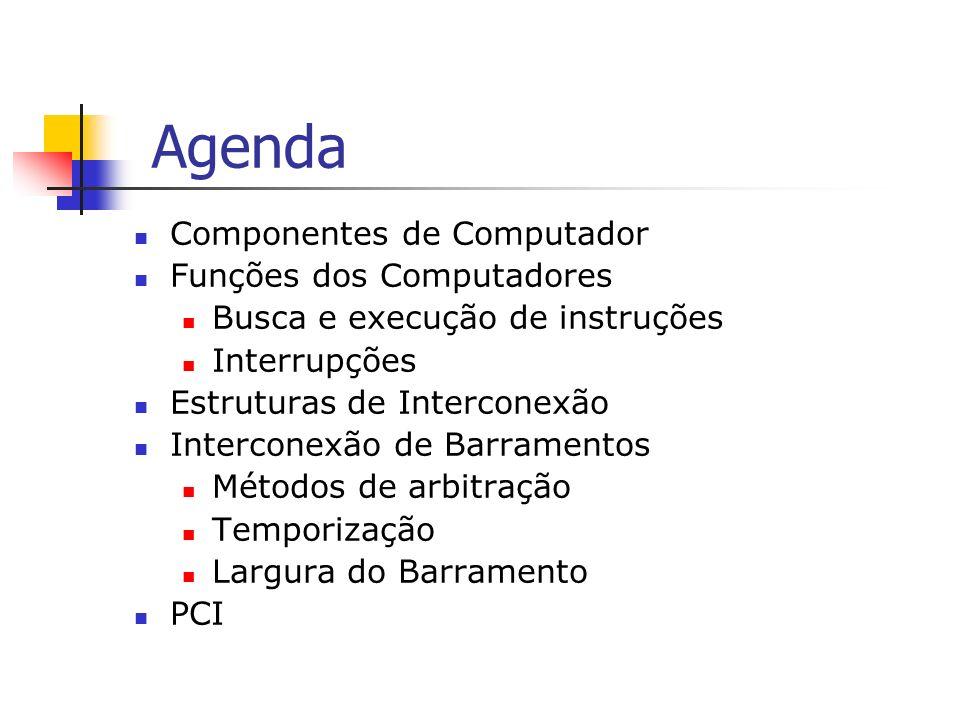 Agenda Componentes de Computador Funções dos Computadores