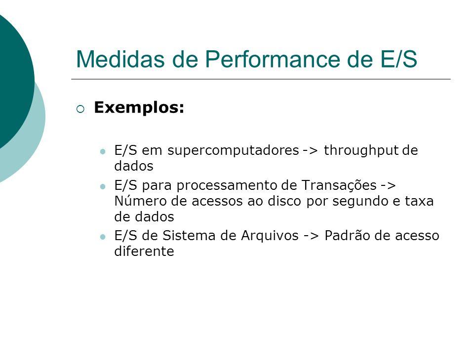 Medidas de Performance de E/S