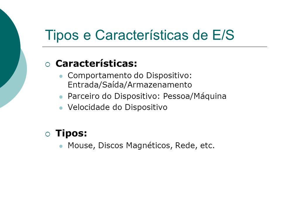 Tipos e Características de E/S