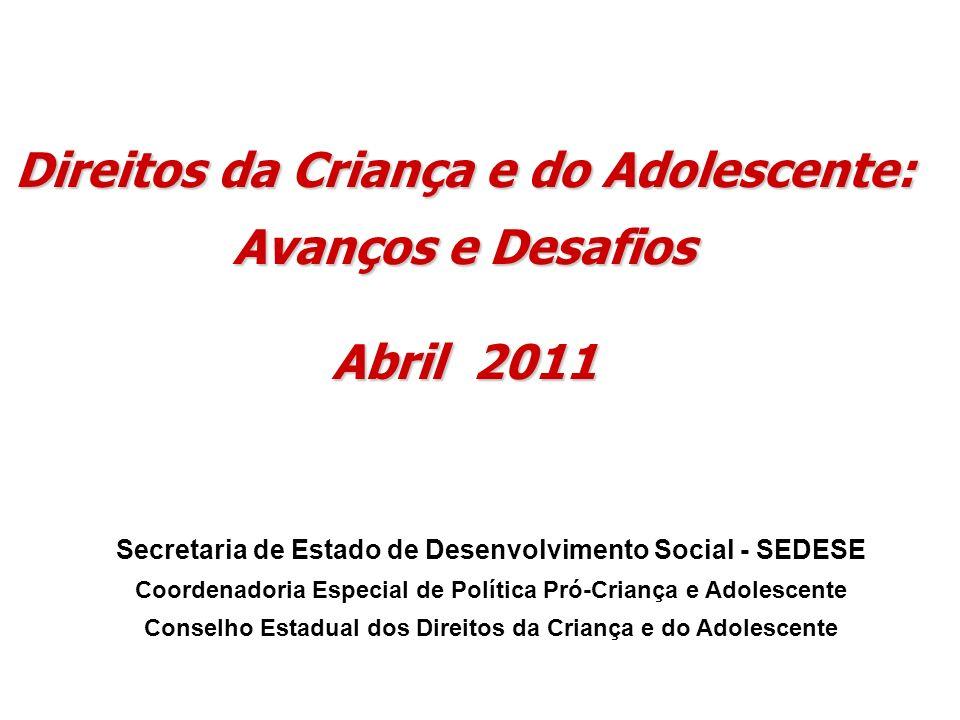 Direitos da Criança e do Adolescente: Avanços e Desafios Abril 2011
