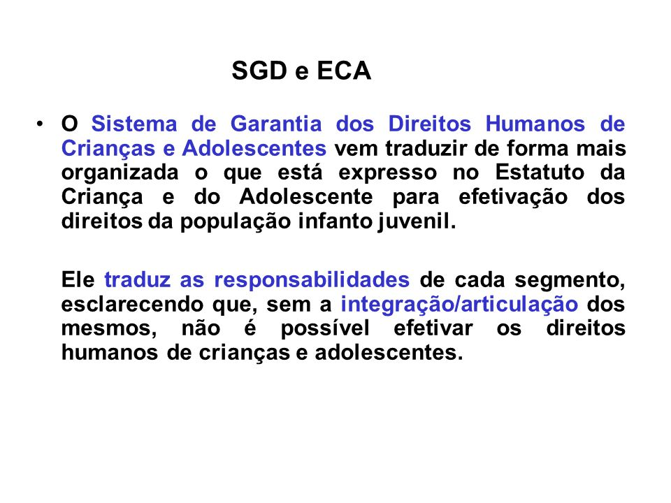 SGD e ECA