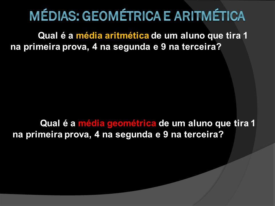 Médias: geométrica e aritmética