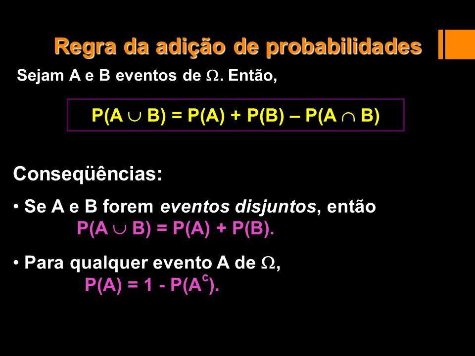 Sejam A e B eventos de . Então,