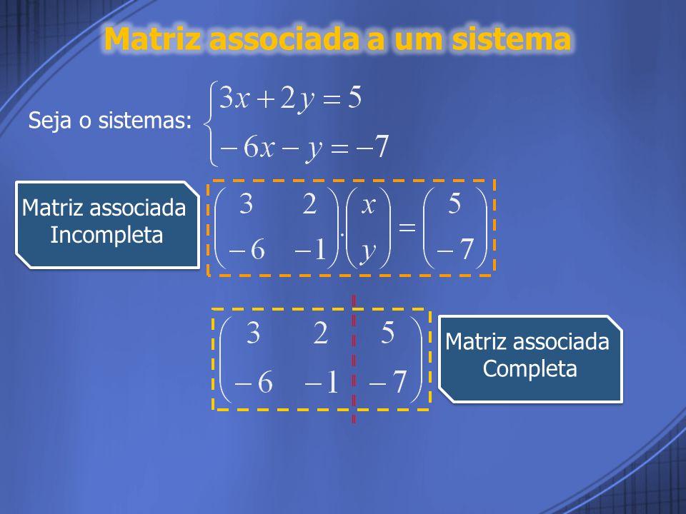 Matriz associada a um sistema