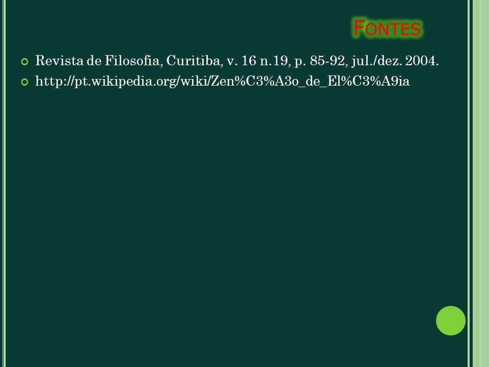 Fontes Revista de Filosofia, Curitiba, v. 16 n.19, p.