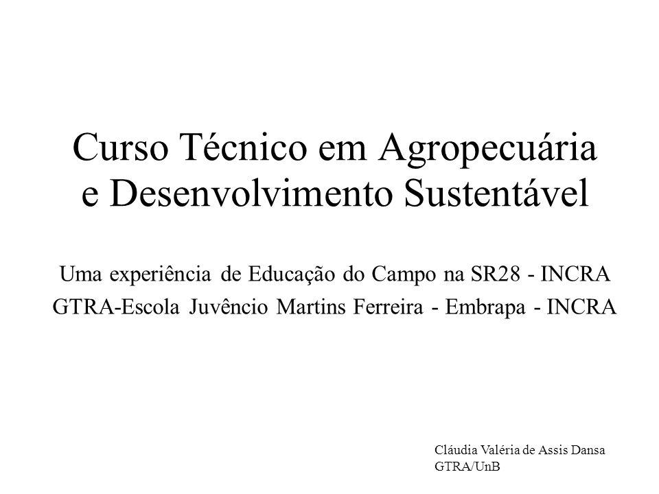 Curso Técnico em Agropecuária e Desenvolvimento Sustentável