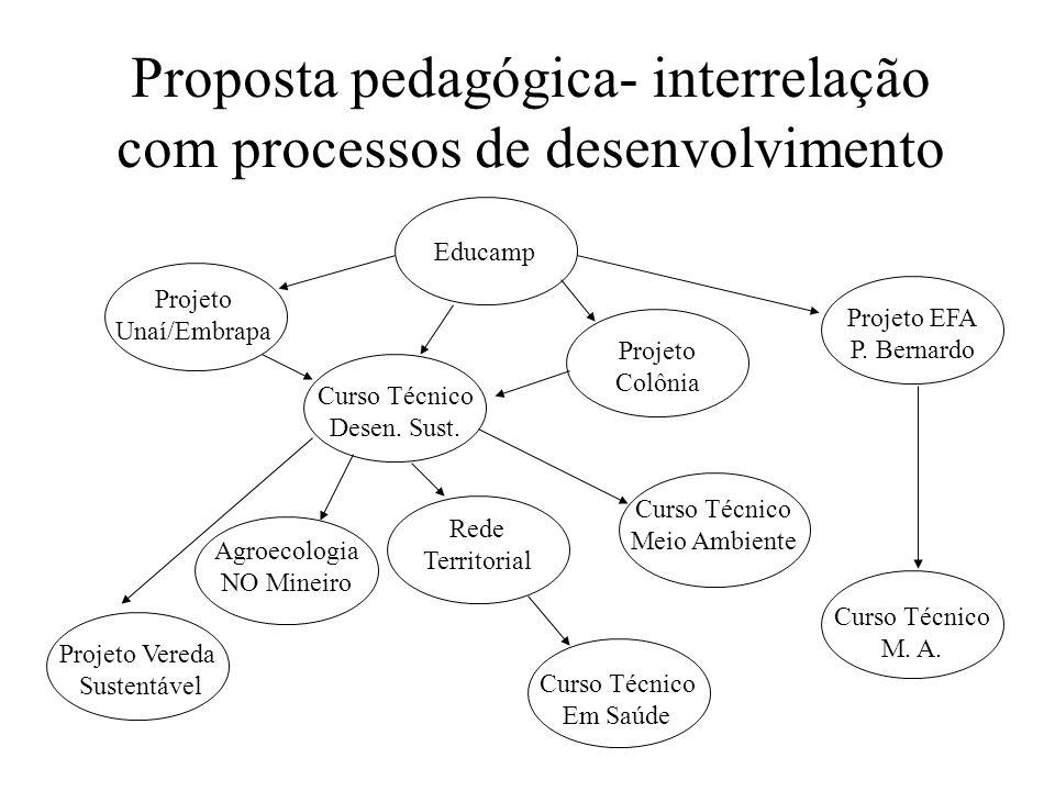 Proposta pedagógica- interrelação com processos de desenvolvimento