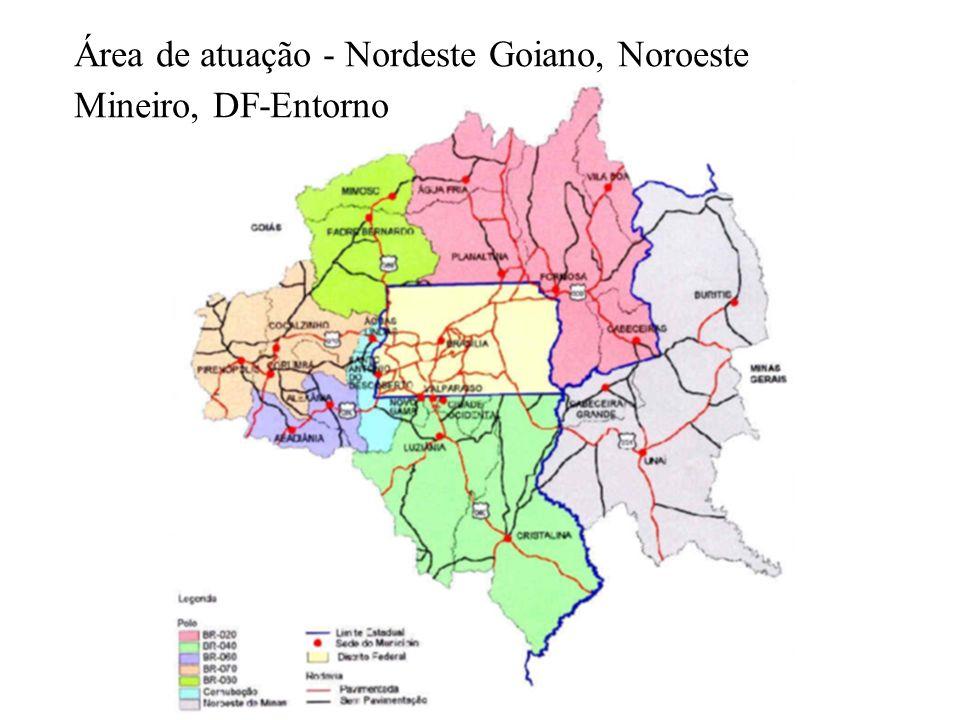 Área de atuação - Nordeste Goiano, Noroeste