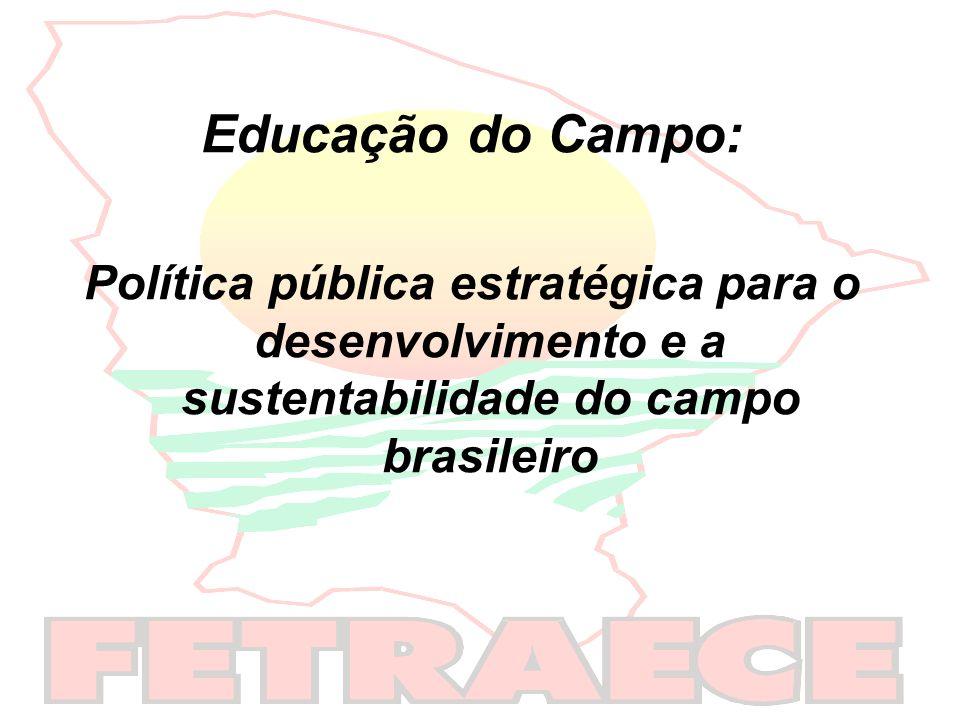Educação do Campo:Política pública estratégica para o desenvolvimento e a sustentabilidade do campo brasileiro.