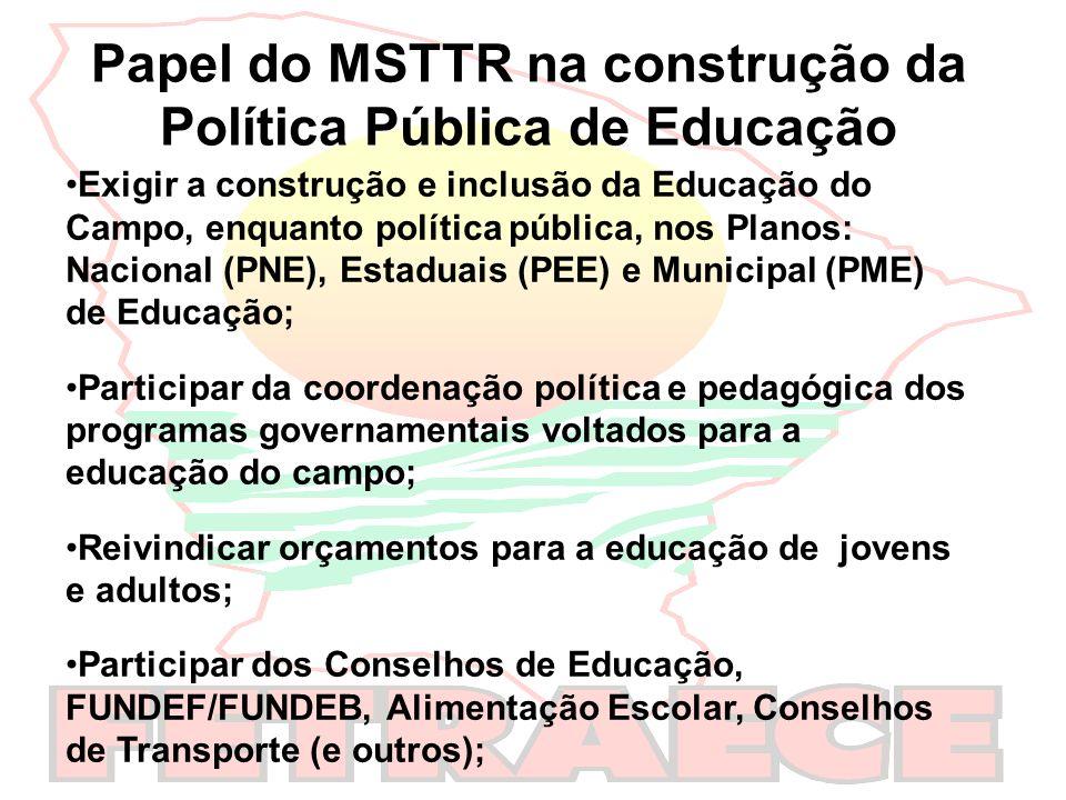 Papel do MSTTR na construção da Política Pública de Educação