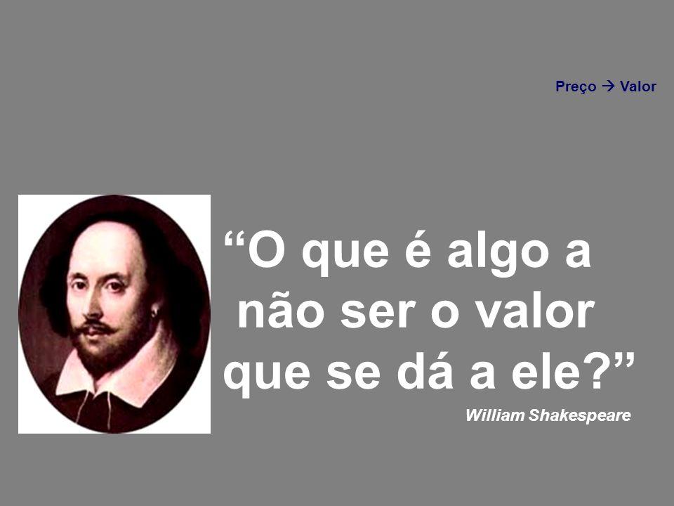 O que é algo a não ser o valor que se dá a ele William Shakespeare