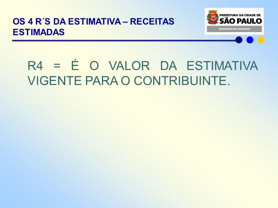 R4 = É O VALOR DA ESTIMATIVA VIGENTE PARA O CONTRIBUINTE.