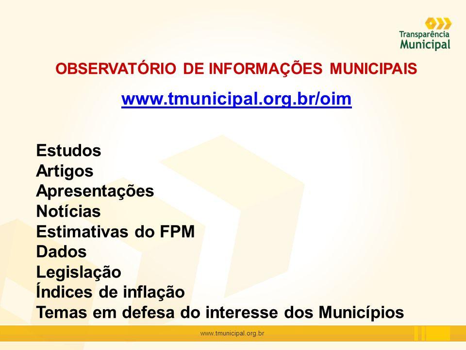 OBSERVATÓRIO DE INFORMAÇÕES MUNICIPAIS