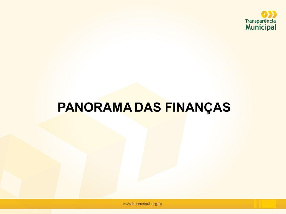 PANORAMA DAS FINANÇAS www.tmunicipal.org.br
