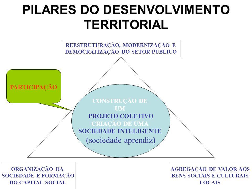 PILARES DO DESENVOLVIMENTO TERRITORIAL
