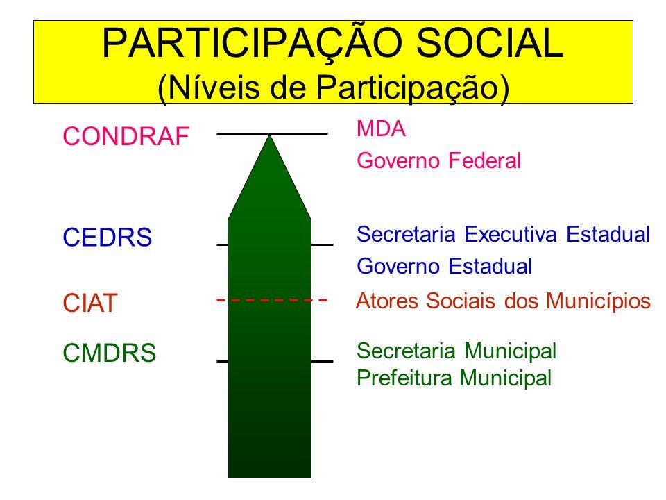 PARTICIPAÇÃO SOCIAL (Níveis de Participação)