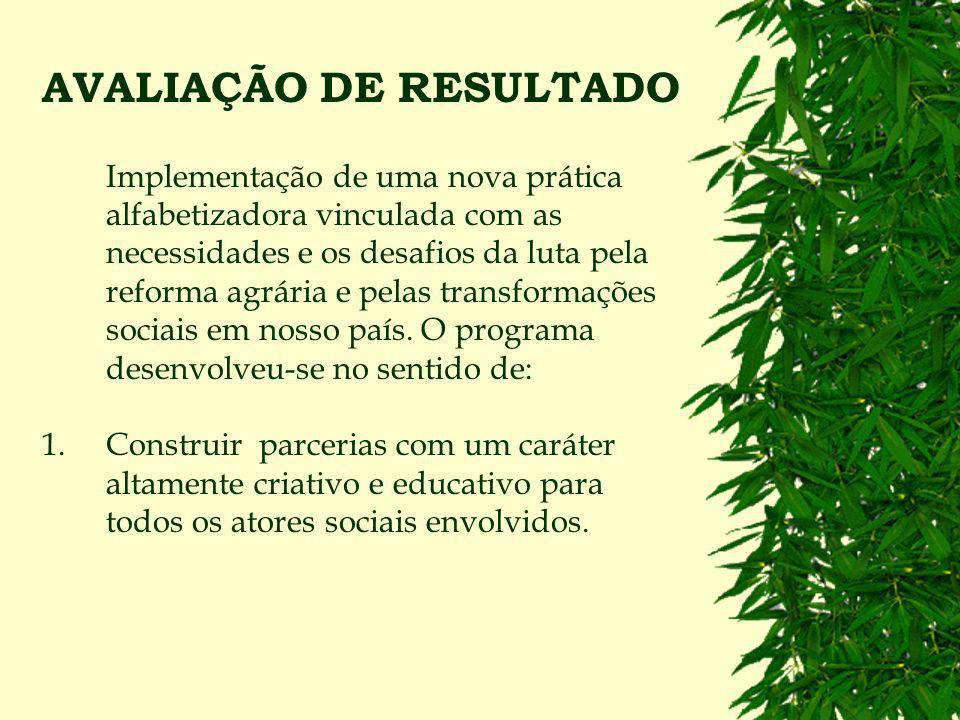 AVALIAÇÃO DE RESULTADO