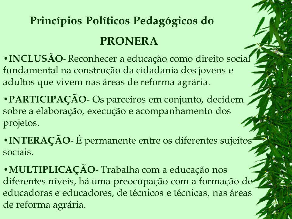 Princípios Políticos Pedagógicos do PRONERA