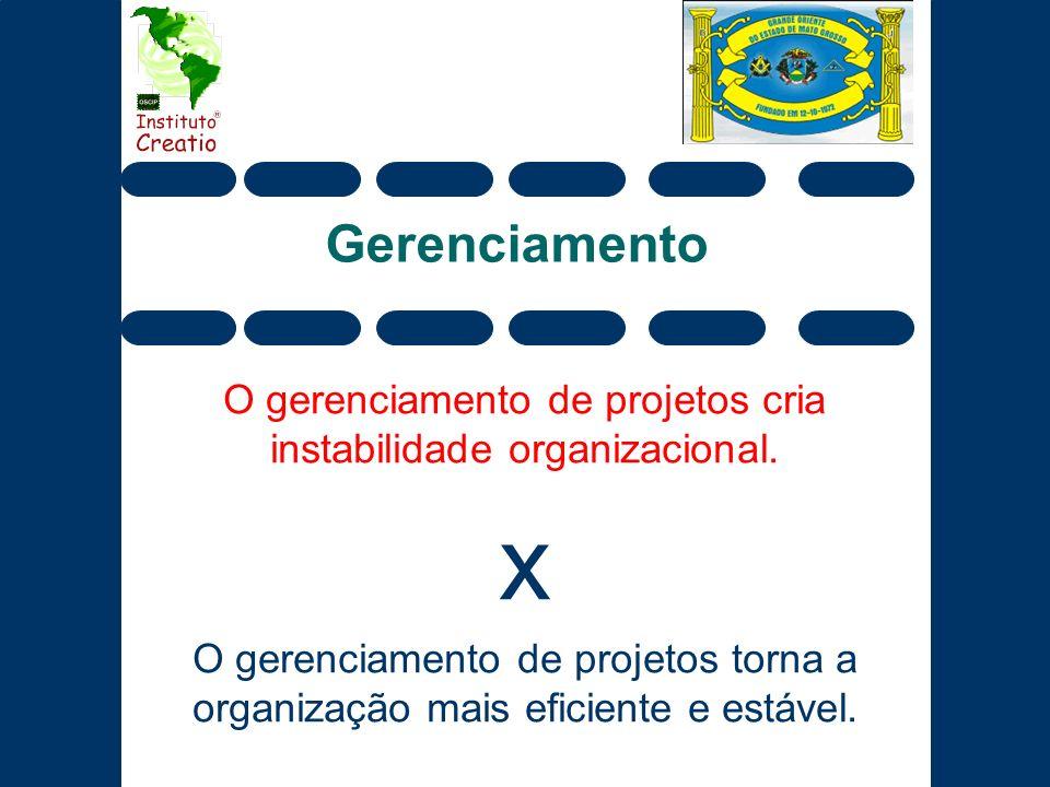 O gerenciamento de projetos cria instabilidade organizacional.