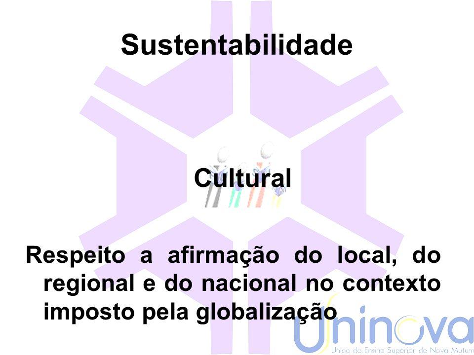 Sustentabilidade Cultural