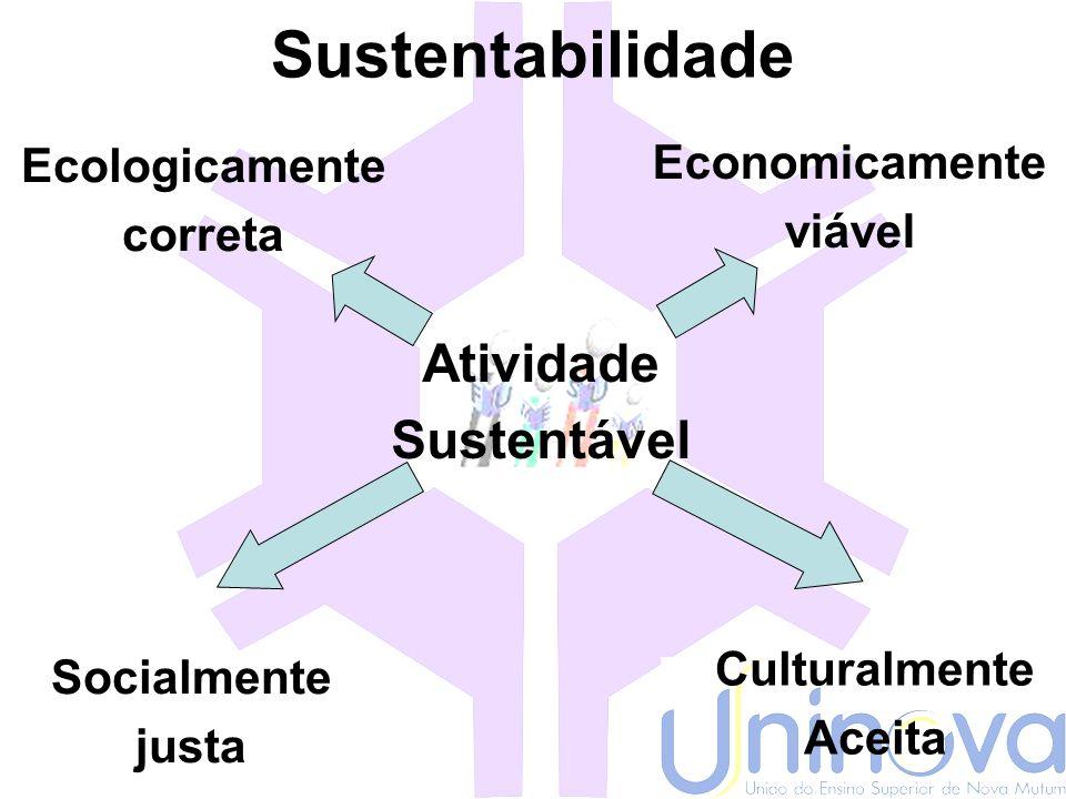 Sustentabilidade Atividade Sustentável Economicamente Ecologicamente