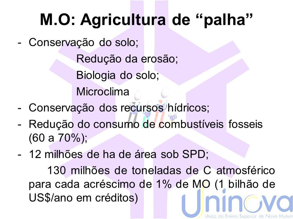 M.O: Agricultura de palha