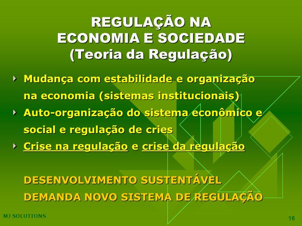 REGULAÇÃO NA ECONOMIA E SOCIEDADE (Teoria da Regulação)