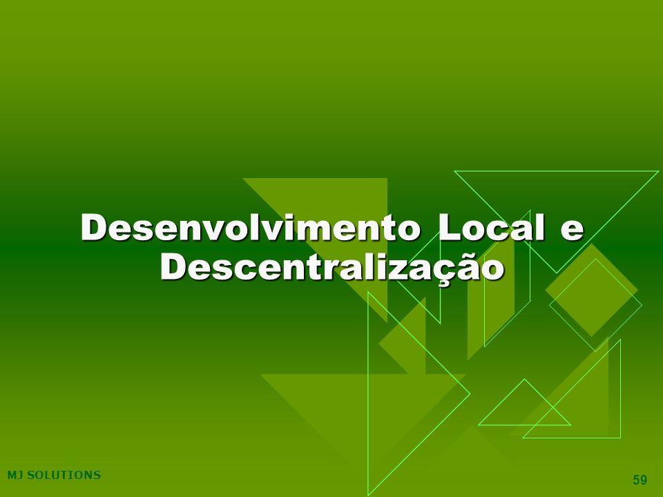 Desenvolvimento Local e Descentralização
