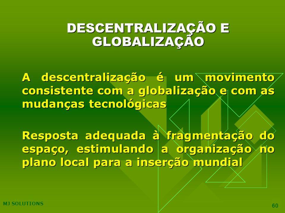 DESCENTRALIZAÇÃO E GLOBALIZAÇÃO