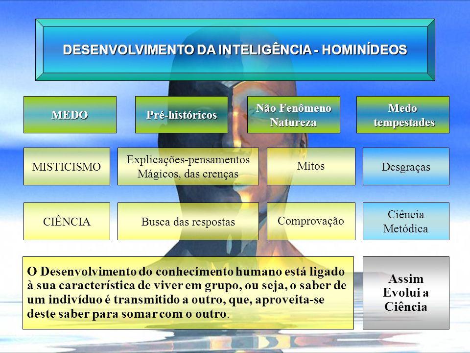 DESENVOLVIMENTO DA INTELIGÊNCIA - HOMINÍDEOS