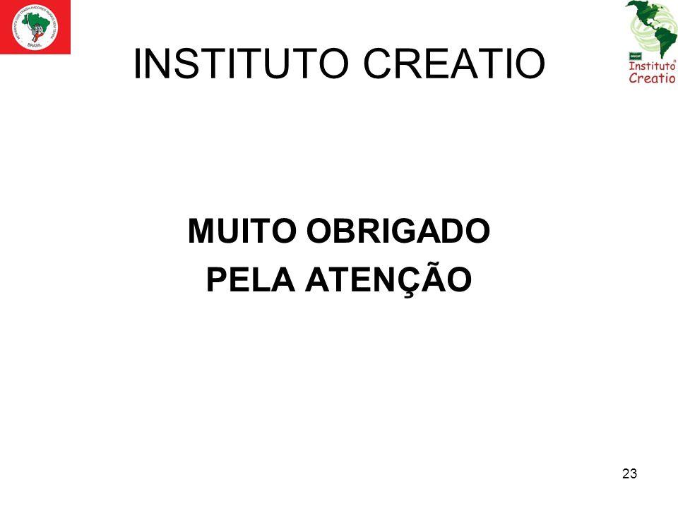 INSTITUTO CREATIO MUITO OBRIGADO PELA ATENÇÃO