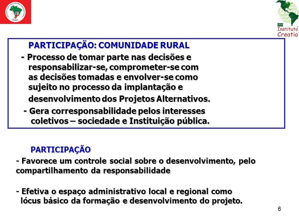 PARTICIPAÇÃO: COMUNIDADE RURAL