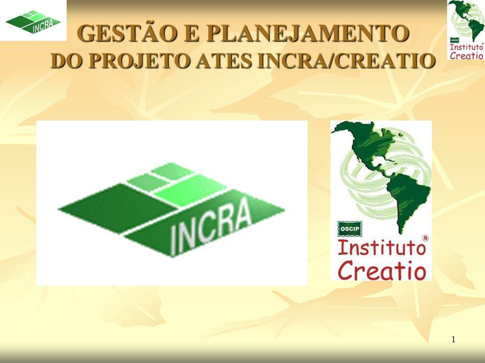 GESTÃO E PLANEJAMENTO DO PROJETO ATES INCRA/CREATIO