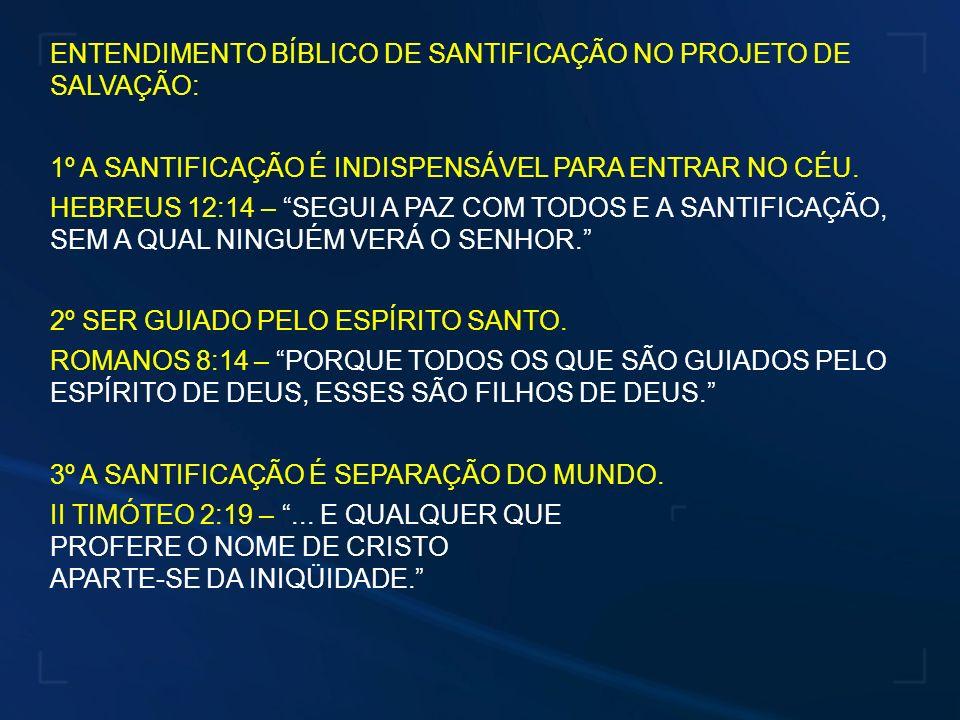 ENTENDIMENTO BÍBLICO DE SANTIFICAÇÃO NO PROJETO DE SALVAÇÃO: