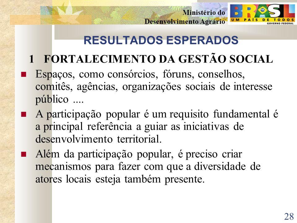 1 FORTALECIMENTO DA GESTÃO SOCIAL