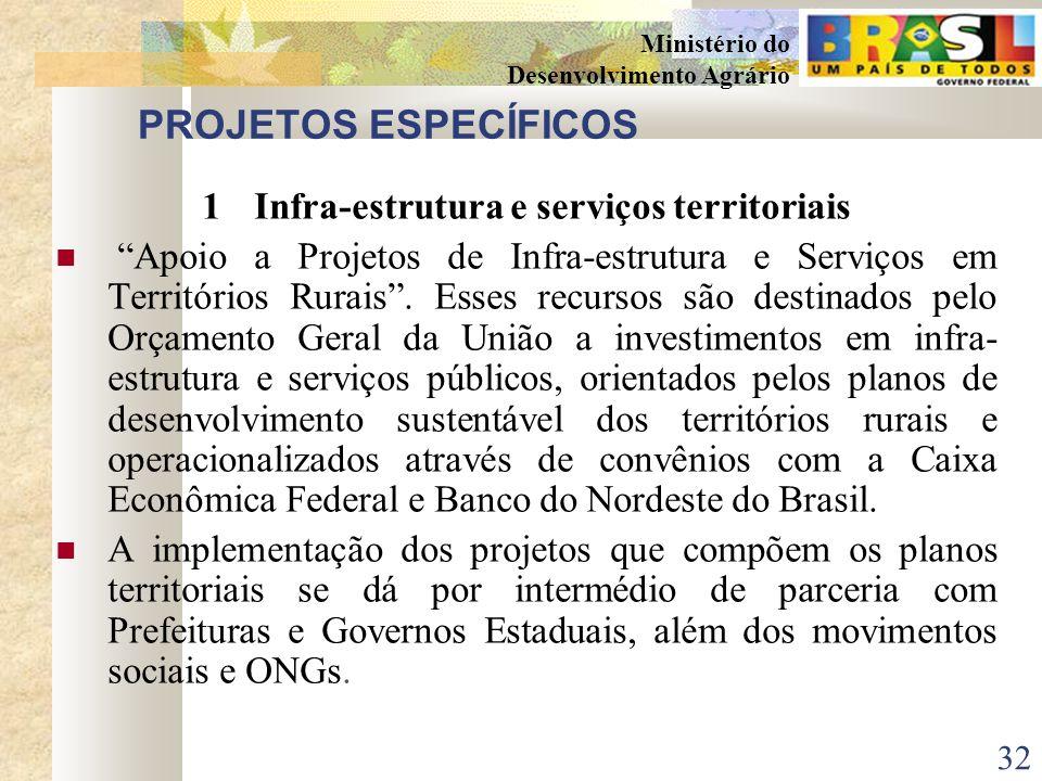 1 Infra-estrutura e serviços territoriais
