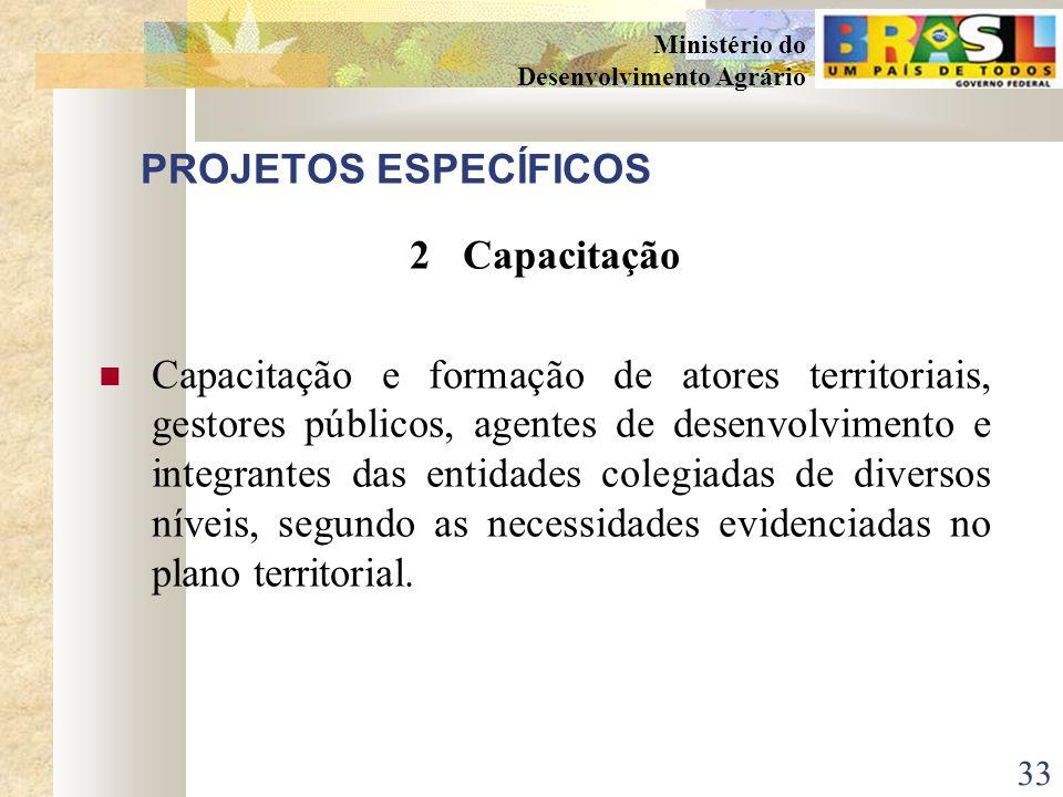 PROJETOS ESPECÍFICOS 2 Capacitação.