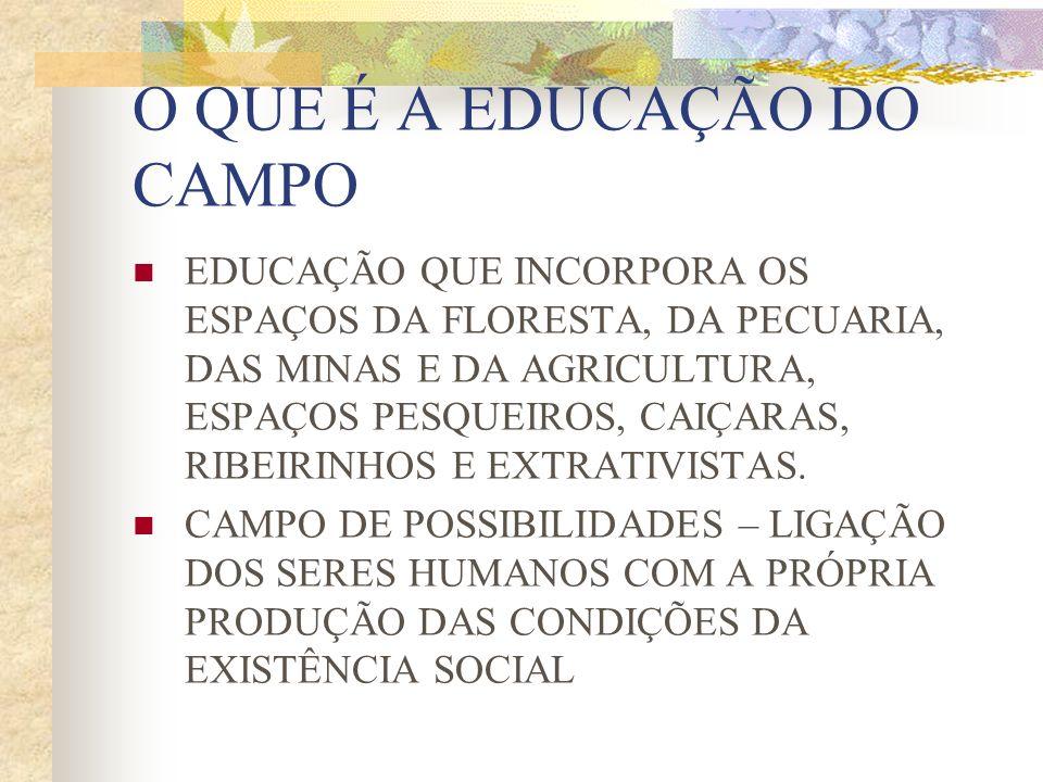 O QUE É A EDUCAÇÃO DO CAMPO