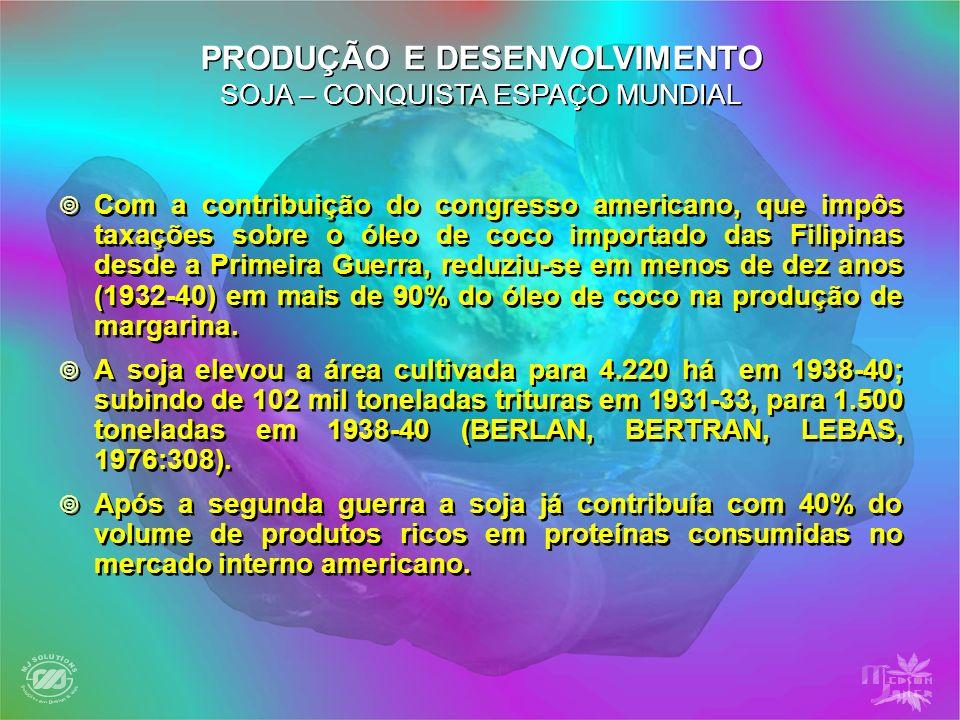 PRODUÇÃO E DESENVOLVIMENTO SOJA – CONQUISTA ESPAÇO MUNDIAL