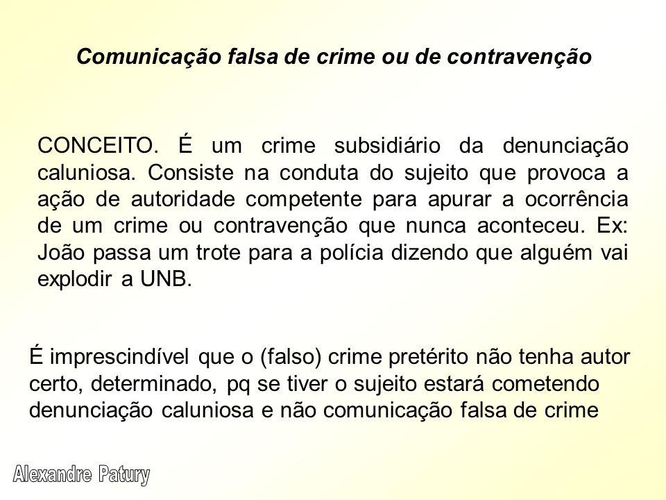 Comunicação falsa de crime ou de contravenção