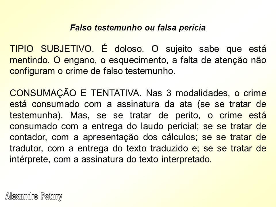 Falso testemunho ou falsa perícia