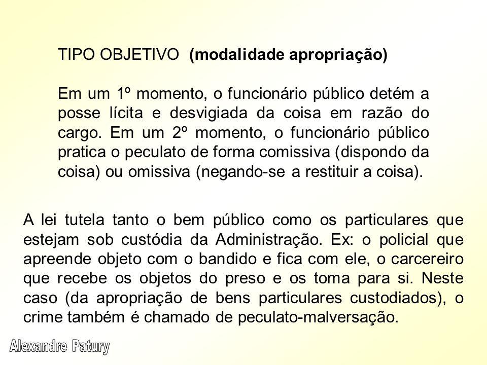 TIPO OBJETIVO (modalidade apropriação)