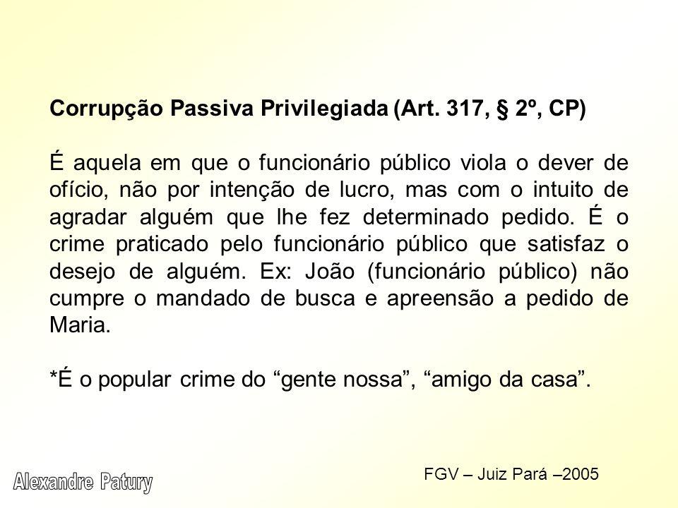 Corrupção Passiva Privilegiada (Art. 317, § 2º, CP)