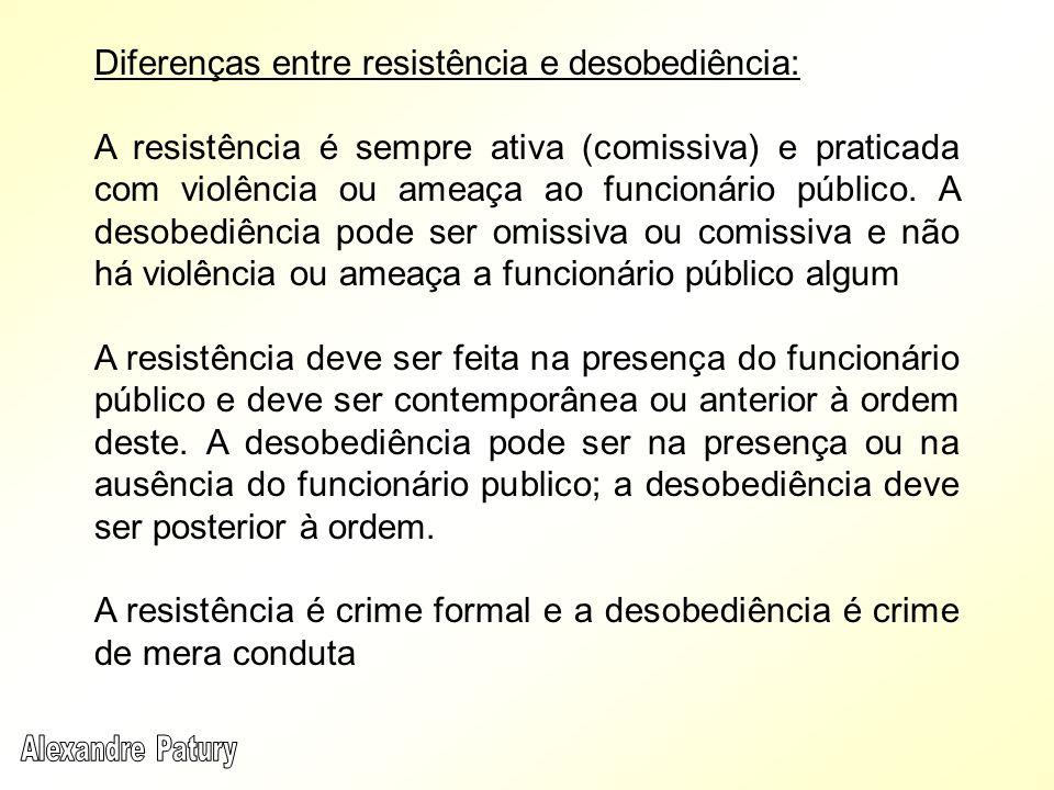 Diferenças entre resistência e desobediência: