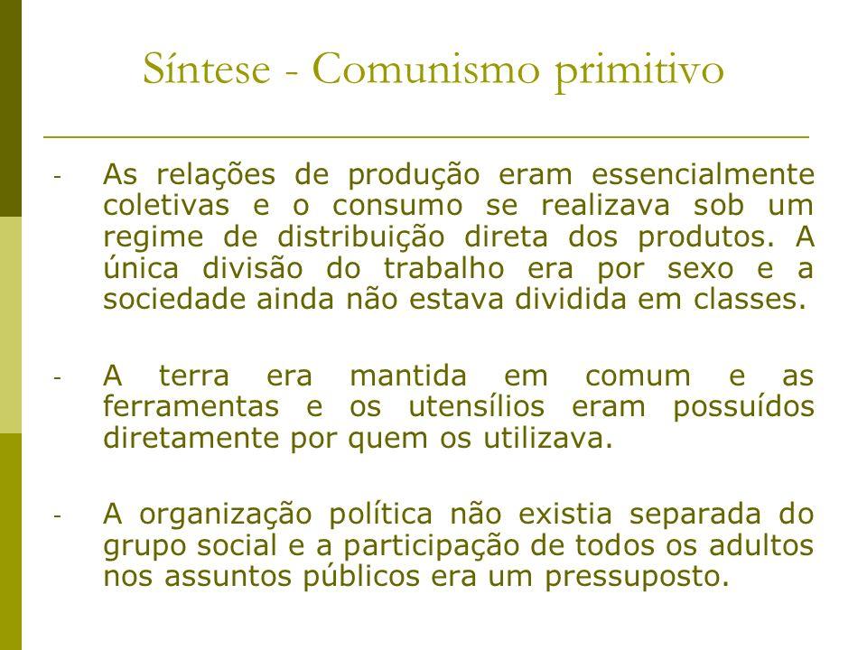 Síntese - Comunismo primitivo