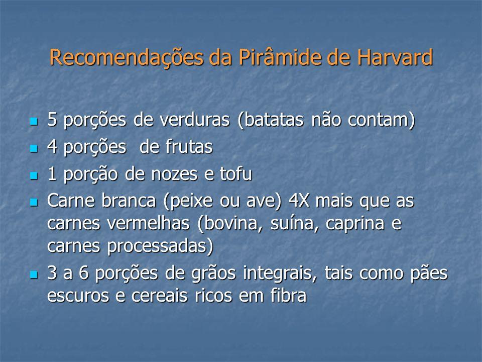 Recomendações da Pirâmide de Harvard