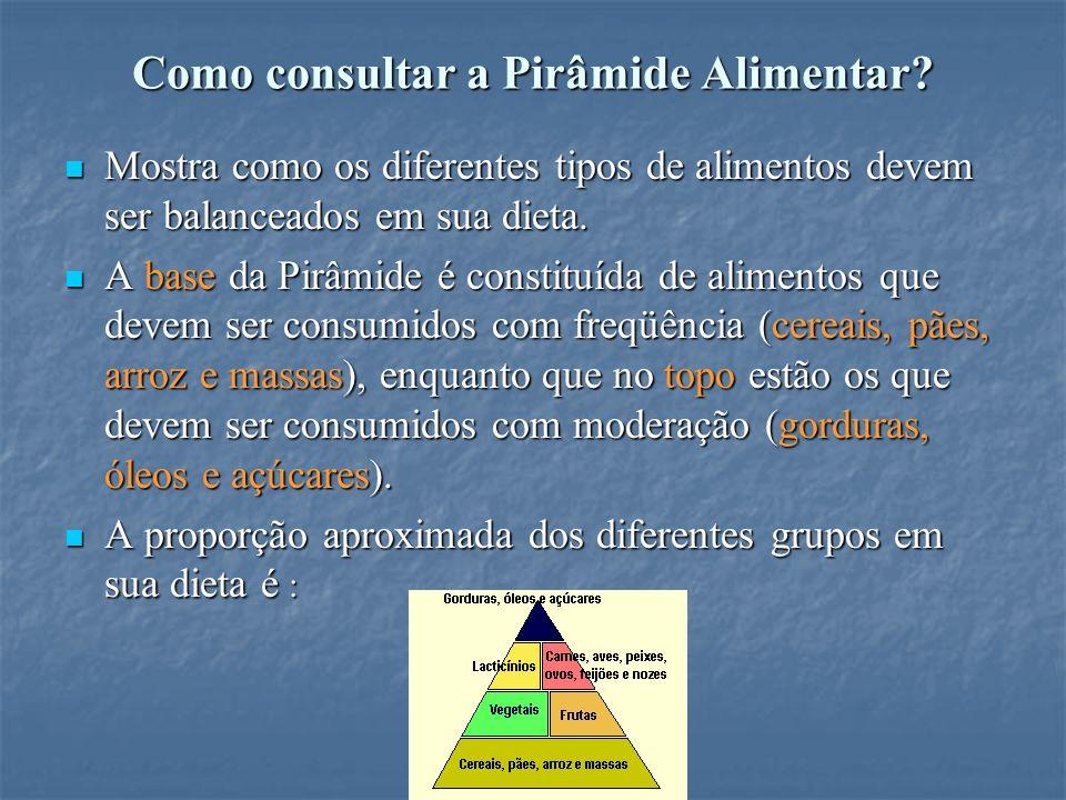 Como consultar a Pirâmide Alimentar